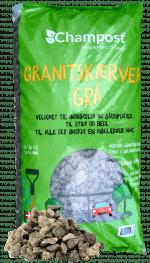 Champost granitskærver grå 11-16 mm - 20 kg