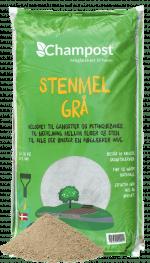Champost stenmel grå 0-2 mm - 20 kg