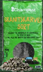 Sorte granitskærver - 20 kg